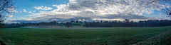 Field Pano (Jon°) Tags: sonyrx100 sony rx100 bike bikeride santa cruz santacruz bronson carbon vehicle bicycle seat wheel outdoor landscape field plain grass plant sky grassland tree forest trail hill mountain mountainside 2017 march delamere early morning