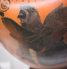 IMG_5244 (jaglazier) Tags: 2016 530bc500bc 6thcenturybc 72016 adults amphora animals archaeologicalmuseums athens attic banditaccia bearded beards caere ceramics cerveteri clay copyright2016jamesaglazier crafts drawing earthware etruscan exekias gravegoods greek italy july july2016 lazio legends men museonazionaleetruscodivillagiulia museums mythical myths nationalmuseums onetorides painting pottery religion rituals roma rome tomb1 wrestling art blackfigure braided burialgoods engraved funerary hairstyles imported inscribed inscriptions kalosnames lionskins palmettes triton tritons typhons writing