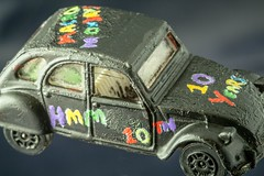 Macro Mondays Happy 10th (SKAC32) Tags: macromondays happy10years citroen2cv modelcar handpainted canonef100mmf28macrousm hmm