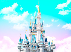 Cotton Candy Kingdom (NOLA_2T) Tags: candy minimalism mattcrump magickingdom magic kingdom disney world wdw mk minimal candyminimalism cotton cottoncandy skies sky cottoncandysky gradient gradiant photoshop clouds colors color colorful baylake florida kissimmiee disneynuts freak disneyfreak