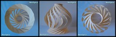 Paper Lamp Onion Shaped Twisted Spiral Conical and variations (10/14) (NeoSpica / NeoLiveArt) Tags: origami kirigami orikiri paper fold cut cutting folding folded decorative onion shaped twisted spiral conical swirl structure sculpture homemade handmade papercraft ideas diy lamp light lampshade double table tablelamp art craft diyhomedecor home decor oniondome crafter creativeideas diylamp papierfalten tessellation tessellated concentric curved lanterns