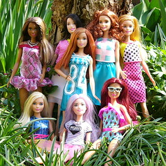Barbie Fashionistas (Hrbovec) Tags: barbie fashionistas 2016 2017 dolls mattel 13 29 17 21 16 54 22 30 tutucool icecreamromper terrificteal teamglam chambraychic dolledupindots whitepinkpizzazz
