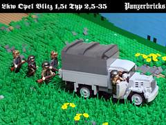 OpelBlitz15t-01 (Panzerbricks) Tags: panzer panzerbricks lego wehrmacht opelblitz1 5t lkw
