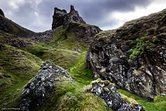 The prison on the hill. (lawrencecornell25) Tags: landscape scotland scenery skye isleofskye quiraing nature outdoors trotternishridge geology theprison nikond3x