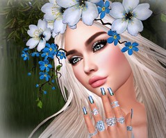 An Amorous Symbolism (lauragenia.viper) Tags: bento catwa chloe cosmopolitan euphoric glamaffair lelutka lode lumipro realevilindustries rezology secondlife secondlifefashion signaturepose zoz beauty avatar virtual girl closeup blond blonde outdoor flower appleblossom nails nailpolish rings blue mesh lovely person portrait