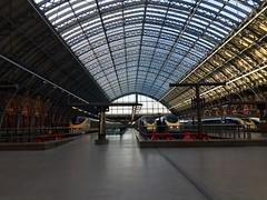 Eurostar trains, St Pancras railway station.  London, UK.  March 24 2017. (Dan Haneckow) Tags: 2017 eurostar stpancras london depots