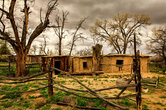 Bunkhouse (KPortin) Tags: newmexico salmonruins bunkhouse fence windows deteriorated hww