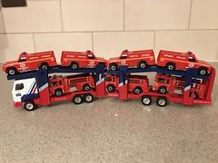Hot Wheels Blackwall Models & Corgi Superhauler (Gary Ruff) Tags: multicartransporter lorry truck artic cartransporter superhaulers superhauler corgi bw vintage fireeater rangerrescue blackwall hotwheels