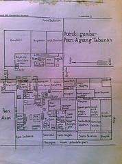 Tabanan, Bali - Kerajaan Tabanan.  Denah Puri Agung Tabanan 1900 (Sultanates and Kingdoms in Indonesia) Tags: tabanan