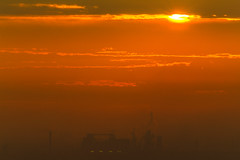 the city is raising (TonyD.2) Tags: longlens city morning sun color colorful colors warmcolor warmcolors warm orange 75300mm canon tripod tripode fabric