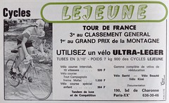 Le Cycle n° 122, aug.-sep. 1971 (Cyclopathe) Tags: lejeune bicycles tourdefrance 1971 campagnolo reynolds 531 mafac ultralight