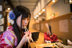 Young woman in Kimono eating lunch in Japanese restaurant (Apricot Cafe) Tags: img26218 2024years asia asianandindianethnicities higashichayamachi ishikawaprefecture japan japaneseethnicity japaneseculture kanazawa kimono sigma35mmf14dghsmart architecture charming cheerful chopsticks citylife day eating enjoyment fashion fish foodanddrink freedom freshness hairaccessory happiness horizontal indoors lifestyles longhair lunch oldfashioned oneperson onlywomen photography relaxation restaurant sitting smiling springtime tourism traditionalclothing tranquility travel traveldestinations waistup walking weekendactivities women youngadult