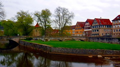 Schwäbisch-Hall (david_m.hn) Tags: schwäbischhall badenwürttemberg deutschland germany salz salt mittelalter medieval urban city fluss river fachwerk timberedhouse