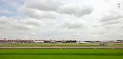 Airport views on taxi (A. Wee) Tags: jakarta indonesia 雅加达 cgk airport 机场 印尼