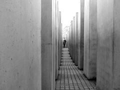 (° cris ° (searching for testimonials :)) Tags: berlin berlino germany holocaust olocausto jewish ebrei grey grigio memorial memoriale dark shadow ombre perspective prospettiva bw blackwhite flickraward platinumheartaward monochrome