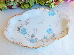 Antique Haviland Limoges Porcelain Serving Platter ~ Flowers ~ Gold (Donna's Collectables) Tags: antique haviland limoges porcelain serving platter ~ flowers gold