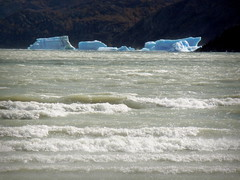 Group of icebergs float over lake waves - Torres del Paine, Chile (Germán Vogel) Tags: southamerica latinamerica travel traveldestinations traveltourism tourism touristattraction landmark holidaydestination patagonia ice cold weather climatechange globalwarming glacier iceberg andes lake nature naturallandscape water torresdelpaine chile magallanesyantarticachilena parquenacional nationalpark wave lagogrey