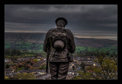 Lest we forget (Kevin, Mr Manchester) Tags: architecture britishculture building canon1100d canon1855mm clitheroe clitheroecastle clouds england hdr historical lancashire northwest photoborder ribblevalley street town
