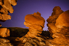 Night Goblins_MG_0230 (Alfred J. Lockwood Photography) Tags: alfredjlockwood nature landscape nightsky gardenofthegods rockformation sandstone stars lightpainting winter colorado zeiss