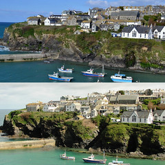 Real and ideal Port Isaac (Steven & Joey Thompson) Tags: idealized view port isaac cornwall alamy postcard actual