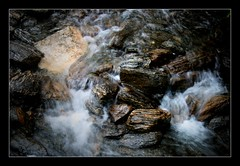 Cascade IV (Seeing Things My Way...) Tags: newzealand foxglacier stream flow trickle melt rocks stones
