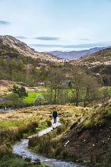 On the Trail (Octal Photo) Tags: 500px sky landscape water nature river travel rock tree trail beautiful grass wood mountain valley hill outdoors hiking beauty scenic one person scotland highlands landscapes on
