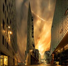 Apocalypse (mcalma68) Tags: architecture sunset amsterdam building ijdok skyline cityscape