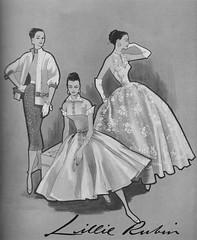 Lillie Rubin 1956 (barbiescanner) Tags: vintage retro fashion vintagefashion 50s 50fashion vintagevogue vogue vintageads lillierubin vintagefashionillustration
