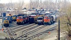 North Yard Power (BuffaloRailfan30) Tags: cheektowaga ny trains csx frontier noth yard bnsf norfolk southern ns