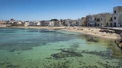 Praia beach - Favignana - Italy (I. Bellomo) Tags: mirror specchio trapani egadi fischerman fish boat sea mare favignana praia beach spiaggia flickr