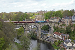 57311 Knaresborough Viaduct (DieselDude321) Tags: 57311 57305 class 57 drs direct rail services 1z68 0617 chester harrogate northern belle knaresborough viaduct north yorkshire