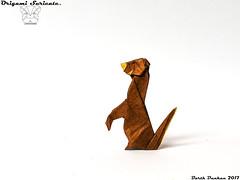 Origami Suricate - Barth Dunkan. (Magic Fingaz) Tags: barthdunkan cурикат meerkat origami origamimeerkat origamisuricate suricate मेरकैट マイアカット 鱿鱼