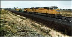 The Defect Hunter. (-Metal-M1KE-) Tags: unionpacific unionpacificup up upec4 ec4 sd70m emd nebraska nebraskaunionpacific trackgeometrycar