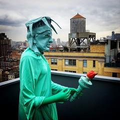 Statue of Liberty revisited (PeterCH51) Tags: usa us newyork ny manhattan whitney whitneymuseumofamericanart statue art artpiece pieceofart statueofliberty liberty liberté square squareformat iphone peterch51