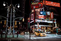 Hershey's (thedecentexposure) Tags: lights night usa newyork photographyislife taxi travel street photography cap shot traveling city york traffic new
