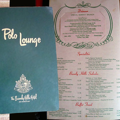 Polo Lounge Beverly Hills Menu 80s (hieblinger) Tags: polo lounge beverly hills menu vintage