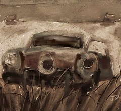 "Abandoned Studebaker (""Jimmer"" ( http://jim-vance.pixels.com )) Tags: abandoned decay rural landscape car studebaker"
