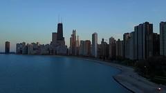 Sunset in the Windy City (player_pleasure) Tags: chicago beach lakeshore drone mavicpro sunset buildings lakemichigan