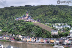 Cochem Castle (rodeonexis - photography) Tags: old green castle broken water rock stone river germany town europe wine eu medieval western hillside cochem hdr riesling
