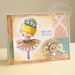 Amalia Ballerina (Torico27) Tags: wood flower girl rose vintage cards ballerina handmade card button distress tutu twine mme tsg jute thereshegoes spellbinders mymindseye