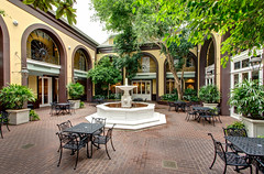 main courtyard at the Hotel Mazarin (New Orleans Hotel Collection) Tags: architecture hotel courtyard frenchquarter