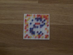hellocatfood - E (hellocatfood) Tags: animation alphabet hamabeads hellocatfood