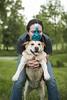 Birthday Boy! (miss_n_arrow) Tags: birthday old blue dog hat goofy funny 5 canine juneau years huskador