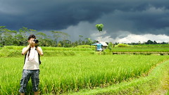 Storm is coming (AleRiverosB) Tags: bali storm ricefield