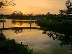 Punggol Waterway Sunset Strip 3 (Aaron.Cheng.TP) Tags: sunset silhouette landscape samsung strip punggol waterway note2