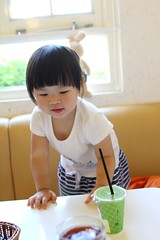 I like the beginning of a day. (Zorie Huang) Tags: morning light portrait baby cute girl smile canon naughty asian kid infant child eating innocent taiwan eat lovely taiwanese oneyearold streetsnap zorie o2brunch