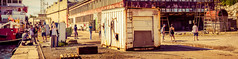 Surveying the shipyard (N-Sarn) Tags: panorama art festival project island hall mediterranean experimental culture croatia fringe machinery event artists shipyard happening adriatic lussino 2013 malilošinj lošinj škver 4stitchedimages
