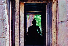 Buddha Silhouette (iTimbo61) Tags: travel travelling beautiful stone architecture buildings asian temple ancient ruins asia cambodia cambodian buddha stupa buddhist religion buddhism olympus structure tropical angkor om1 watt e500 travelphotography olympuscameras