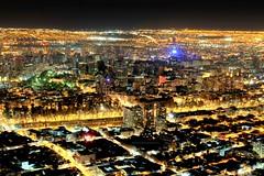 NOCHE EN SANTIAGO (Pablo C.M || BANCOIMAGENES.CL) Tags: chile city santiago night noche ciudad energa cerrosancristbal reginmetropolitana gransantiago