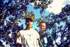 Guiding up into the mountain (JF Sebastian) Tags: portrait mountain tree hiking guide thatsme scannedslide takenby rutaquetzal digitalized morethan100visits rutaquetzal1996 oldfilmautomaticcamera
